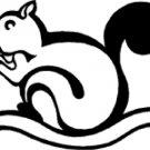 Stars Vinyl Decal Car Sticker - animal squirrel
