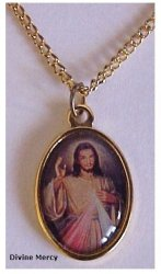 Divine Mercy Necklace Gold Plated