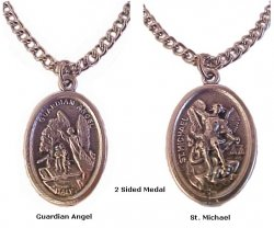 Guardian Angel And Saint Michael Medals