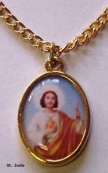 Saint Jude Gold Plated Medal
