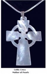Mother of Pearl Celtic Cross