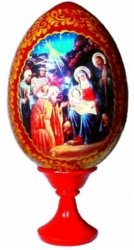 Russian Egg ~ Nativity Scene