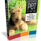 How To Pick A Pet For Your Child - ebok