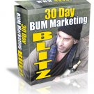 30 Day Bum Marketing Blitz - ebook