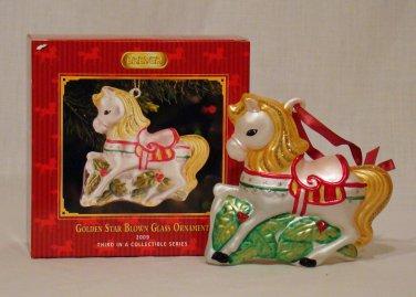 Breyer model horse #700669 Golden Star Glass Blown Oranement, new in box