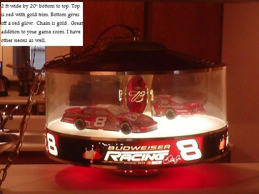 Budweiser Carousel Light Dale Earnhardt Jr 8 Nascar