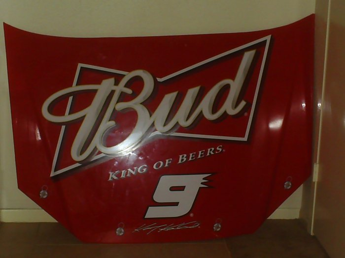 Budweiser Nascar Hood 9