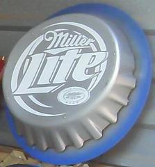Miller Lite Bottle Cap Light