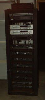 Rack Mount Cabinet w/Prof. Amp Equipment for Commercial