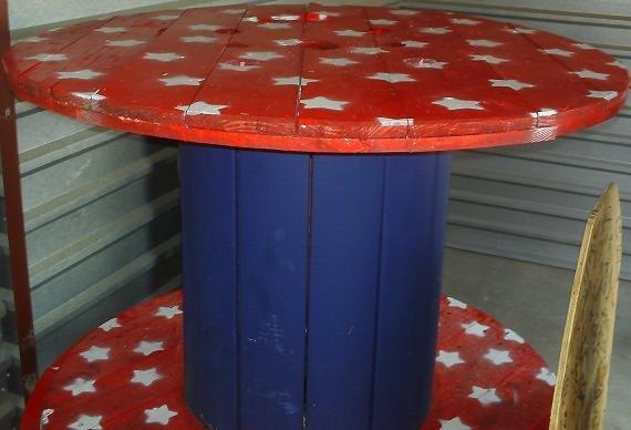 Custom Painted Bar Tables