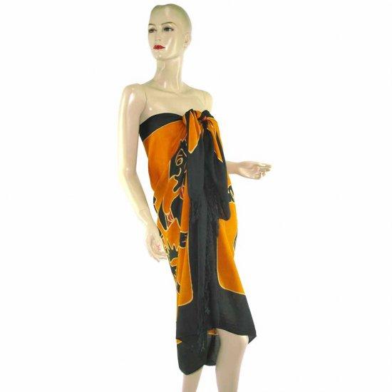 Brown Black Aborigines Batik Sarong Pareo Skirt Dress Wrap Shawl Beach Cover-Up (MP47)