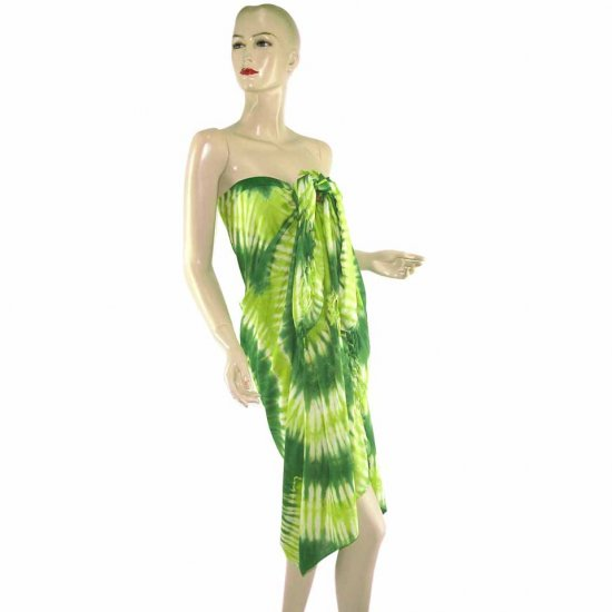 Tie-Dye Batik Sarong Pareo Skirt Dress Wrap Shawl Beach Cover-Up (MP48)