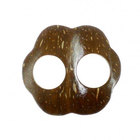 Hand Made Coconut Shell Buckle For Sarong Pareo Scarf (PB92)