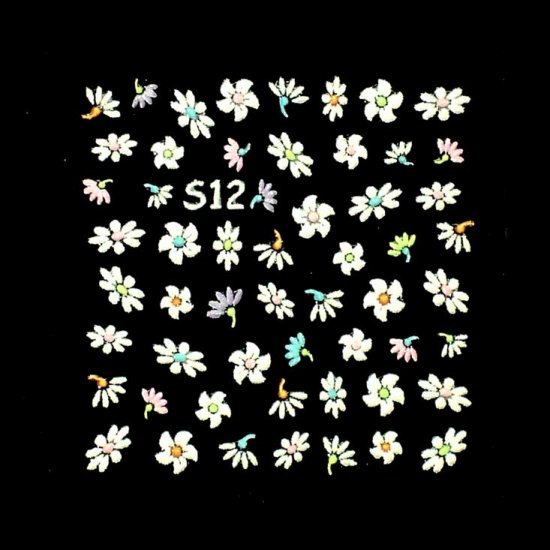 3D Nail Art Decoration Sticker Decal Manicure Floral (NA93)