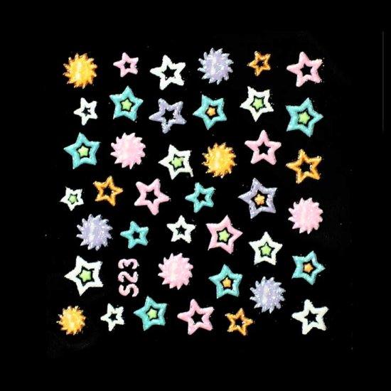 3D Nail Art Decoration Sticker Decal Manicure Stars (NA97)