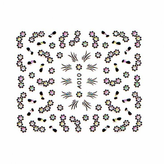 3D Nail Art Decoration Sticker Decal Manicure Floral (NA103)