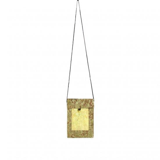 Gold-Brown Chinese Brocade Sling-Bag Evening-Wear Purse (LFT35)
