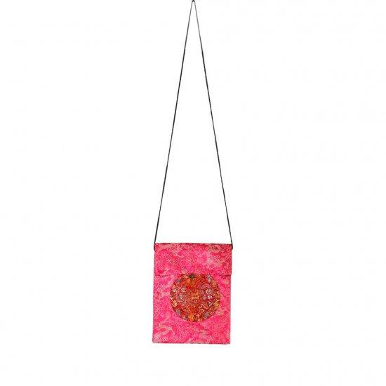 Pink Chinese Brocade Sling-Bag Evening-Wear Purse (LFT36)