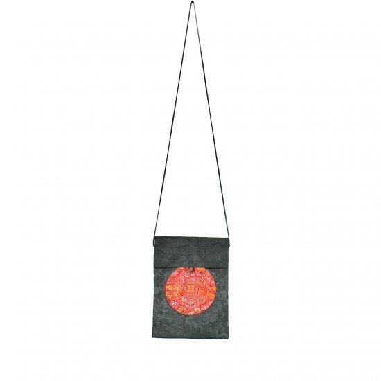 Black Red Chinese Brocade Sling-Bag Evening-Wear Purse (LFT39)