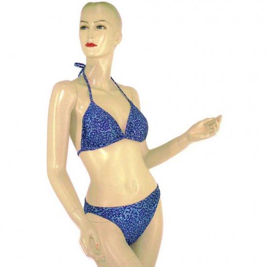 2-Piece Purple Blue Shell Halter-Top Bikini Swimwear M (PS32)