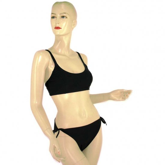 2-Piece Black Bandeau-Top Bikini Swimwear XL (PS41)