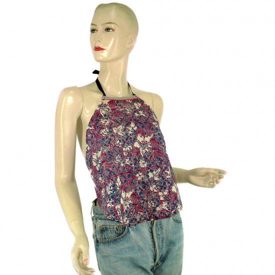 Purple Batik Chinese Style Du-Dou Halter-Neck Top OSFA (KTN3)