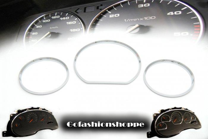 MERCEDES W210 00+ CHROME ABS DASHBOARD GAUGE RINGS- DRB7