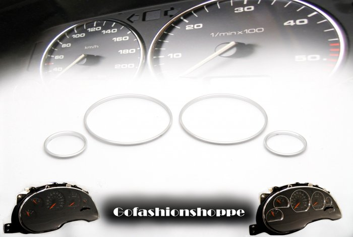 BMW E38 E39 X5 SILVER CLUSTER DASHBOARD GAUGE RING  - DRC8