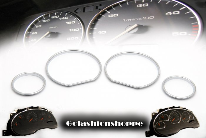 BMW E36 92~98 CHROME CLUSTER DASHBOARD GAUGE RINGS DRB9