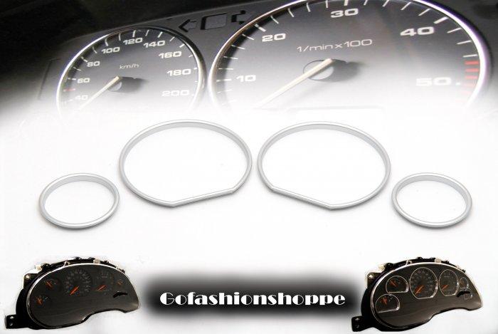BMW E36 92-98 SILVER CLUSTER DASHBOARD GAUGE RING  -DRC1