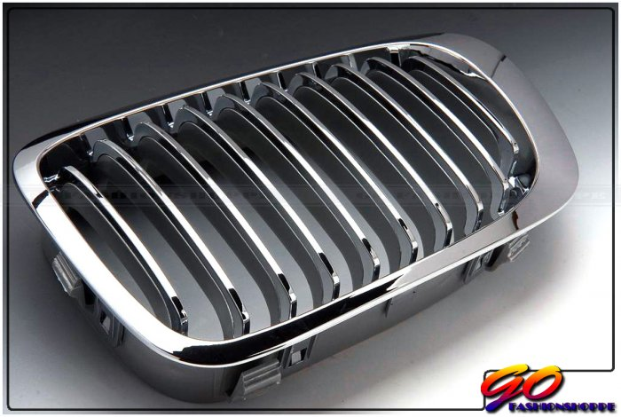 99~02 BMW E46 325i 330i Coupe Chrome / Silver Grille-GRB6