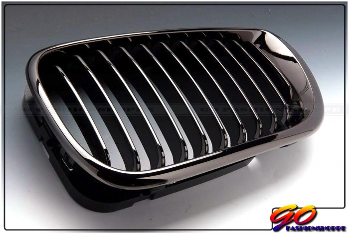 03~05 BMW E46 Sedan 4D 325 330 Black Chrome Grille-GRB8
