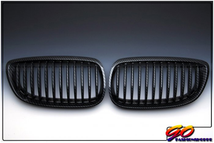 New BMW E92 E93 328i 335i Carbon Look Front Grille-GRH8
