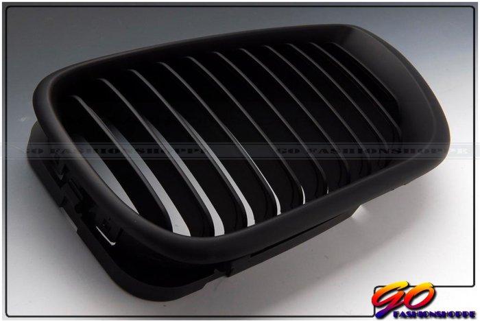 03 04 05 BMW E46 Sedan 4D 325 330 Matte Black Grille-GRB7