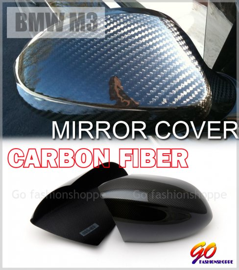 BMW E92 M3 Coupe 2D Dry Real Carbon Mirror Cover -MCA7