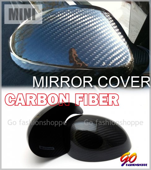 BMW Mini Cooper S 00-05 Dry Real Carbon Mirror Cover -MCA8