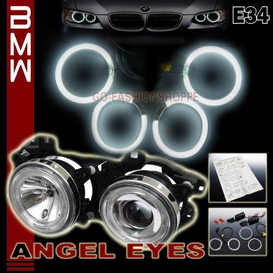 BMW E34 88-96 525i 530i 535i 540i M5 CCFL ANGEL EYES - WHITE LIGHT AED5