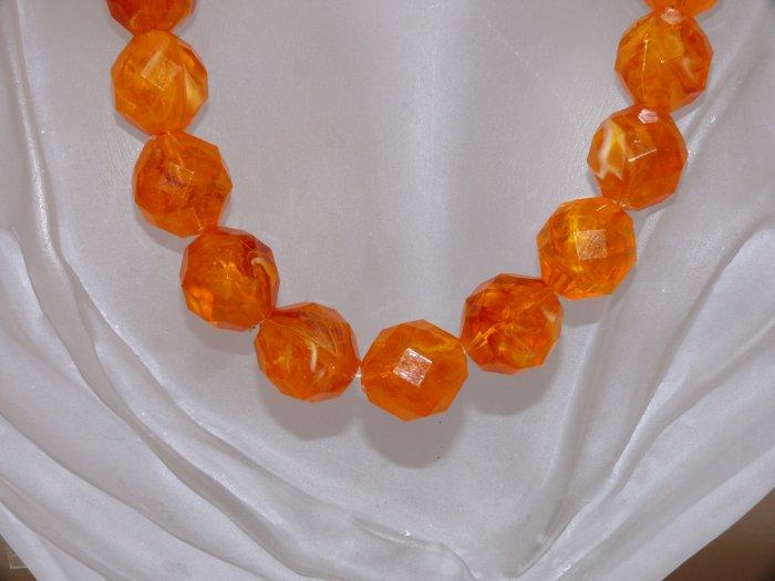 Chunky Orange Necklace