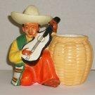 Ceramic Spanish  Latin Man Cache Pot   Made In Japan   Vintage Figurine