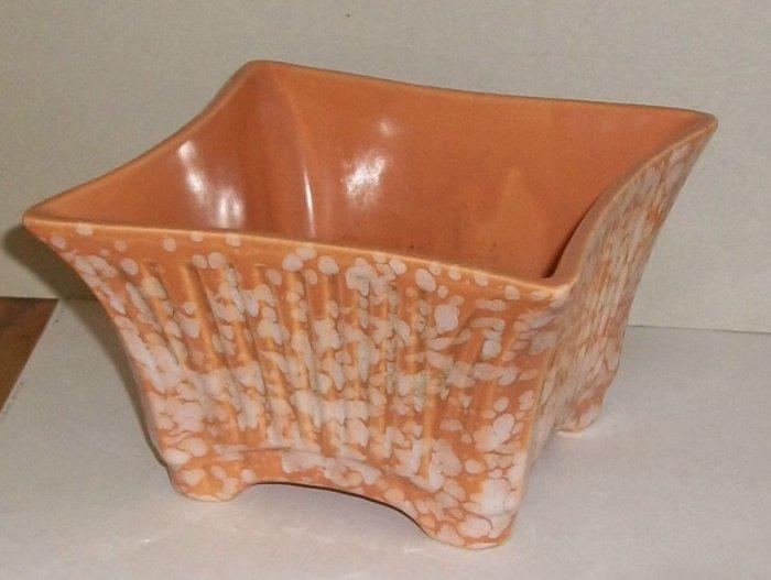 Vintage  Ceramic  Peach 6x6 Planter