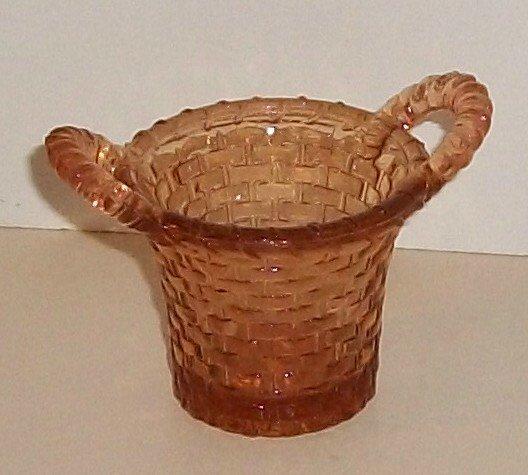 Amber Color Glass Basket