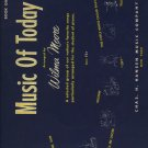 Music Of Today  Wilma Moore  Piano Song Book  1952