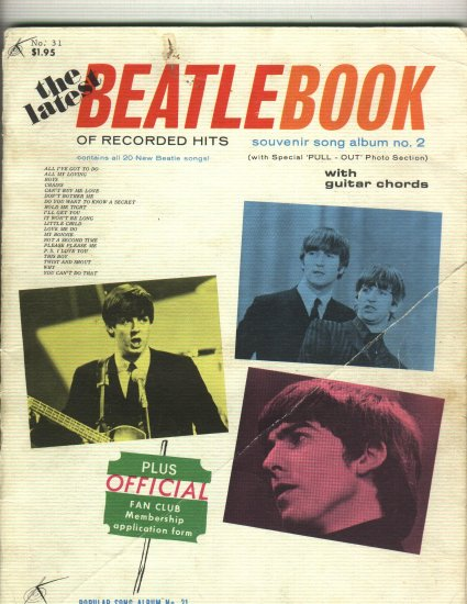 The Beatles Music Book Beatlebook 1965 issue  20 Song Book