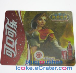 """Coca-Cola Coke World Of Warcraft """" WoW """" Limited Edition Advertising Mouse Pad"""