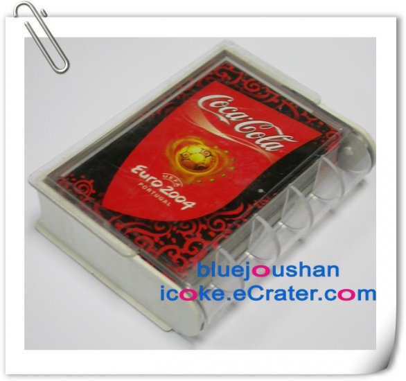 Coca-Cola Coke EURO 2004 Limited Edition Advertising Playing Poker Cards Set