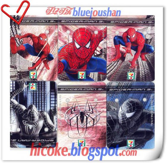 A Set of Spider-Man 3 Movie Mini 6 Ad Pocket Trading Cards