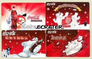 2006 Coca-Cola Wal-Mart China 10th Ann 4 Coke Bears Trading Cards
