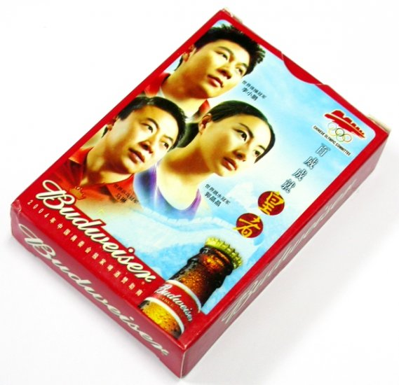 BUDWEISER BEER 2004 OLYMPIC SPONSOR PLAYING CARDS DECK