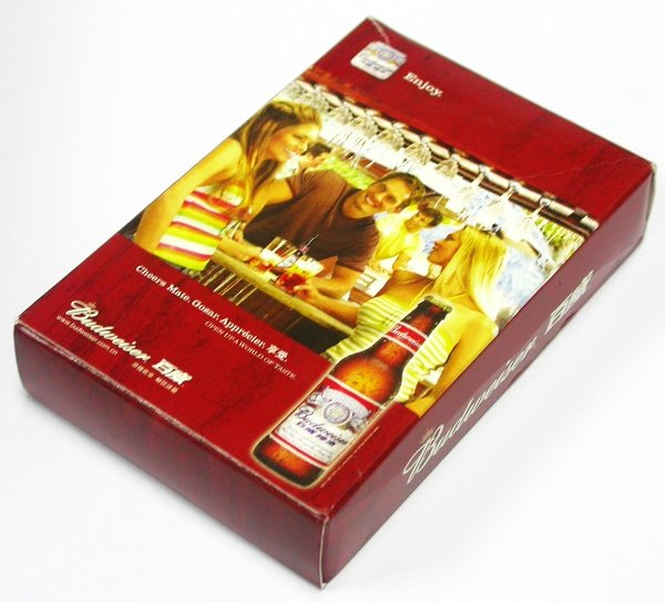 BUDWEISER BEER AD PLAYING POKER CARDS DECK