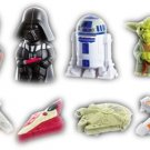 A Complete Set of 2008 McDonalds Toys Star Wars 8 Dolls / Figures